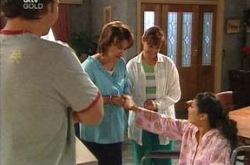 Taj Coppin, Lyn Scully, Susan Kennedy, Lori Lee in Neighbours Episode 4232