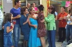 Summer Hoyland, Jack Scully, Lyn Scully, Michelle Scully, Lori Lee, Susan Kennedy in Neighbours Episode 4237