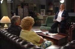 Lou Carpenter, Valda Sheergold, Harold Bishop in Neighbours Episode 4275