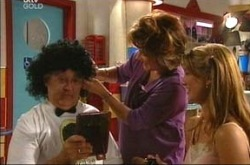 Harold Bishop, Lyn Scully, Nina Tucker in Neighbours Episode 4278