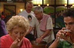 Harold Bishop, Lou Carpenter, Valda Sheergold, Jack Scully in Neighbours Episode 4279
