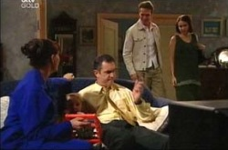Susan Kennedy, Karl Kennedy, Cameron Hodder, Libby Kennedy in Neighbours Episode 4279