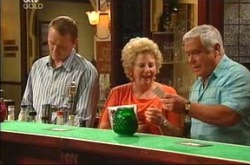 Max Hoyland, Valda Sheergold, Lou Carpenter in Neighbours Episode 4285