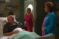 Charlie Cassidy, Valda Sheergold, Lyn Scully in Neighbours Episode 4288