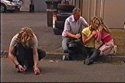 Boyd Hoyland, Max Hoyland, Steph Scully, Summer Hoyland in Neighbours Episode 4290