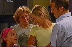 Summer Hoyland, Boyd Hoyland, Steph Scully, Max Hoyland in Neighbours Episode 4290