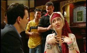 Bill Merchant, Stingray Timmins, Toadie Rebecchi, Sindi Watts in Neighbours Episode 4503