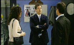 Liljana Bishop, David Bishop, Paul Robinson in Neighbours Episode 4651