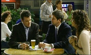 Paul Robinson, David Bishop, Liljana Bishop in Neighbours Episode 4651