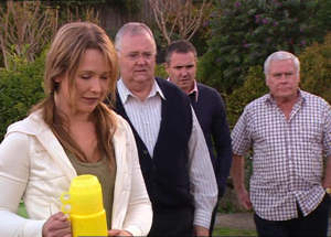 Steph Scully, Harold Bishop, Karl Kennedy, Lou Carpenter in Neighbours Episode 4845