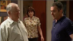 Harold Bishop, Mishka Schneiderova, Karl Kennedy in Neighbours Episode 5095