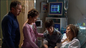 Karl Kennedy, Susan Kennedy, Zeke Kinski, Katya Kinski in Neighbours Episode 5111