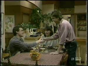Paul Robinson, Maria Ramsay, Shane Ramsay in Neighbours Episode 0102