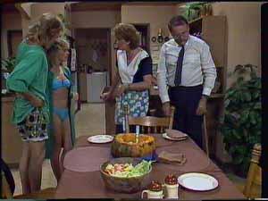 Scott Robinson, Charlene Mitchell, Madge Bishop, Harold Bishop in Neighbours Episode 0417