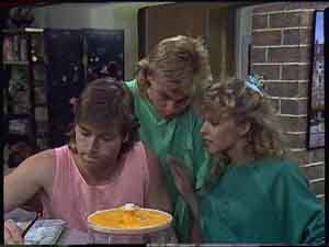 Mike Young, Scott Robinson, Charlene Mitchell in Neighbours Episode 0418