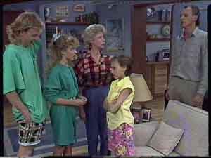 Charlene Mitchell, Helen Daniels, Jim Robinson, Lucy Robinson, Scott Robinson in Neighbours Episode 0418