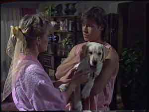 Daphne Clarke, Mike Young, Bouncer in Neighbours Episode 0419