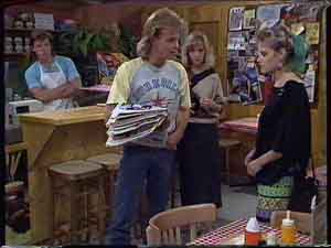 Mike Young, Scott Robinson, Jane Harris, Eileen Clarke in Neighbours Episode 0419