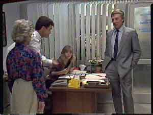 Paul Robinson, Gerard Singer, Jane Harris, Helen Daniels in Neighbours Episode 0420