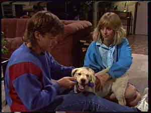 Jane Harris, Bouncer, Mike Young in Neighbours Episode 0425