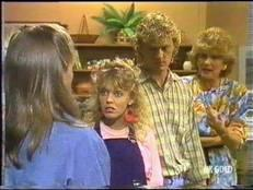 Sue Parker, Charlene Mitchell, Henry Ramsay, Madge Bishop in Neighbours Episode 0473