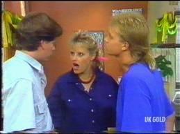 Warren Murphy, Daphne Clarke, Scott Robinson in Neighbours Episode 0473