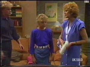 Henry Ramsay, Charlene Mitchell, Madge Bishop in Neighbours Episode 0477
