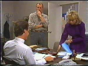 Paul Robinson, Jim Robinson, Jane Harris in Neighbours Episode 0478