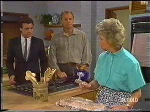Paul Robinson, Jim Robinson, Helen Daniels in Neighbours Episode 0478