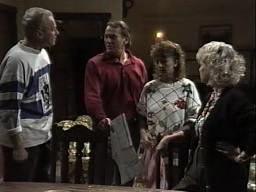Jim Robinson, Doug Willis, Pam Willis, Helen Daniels in Neighbours Episode 1449