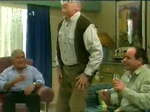 Lou Carpenter, Harold Bishop, Philip Martin in Neighbours Episode 2915
