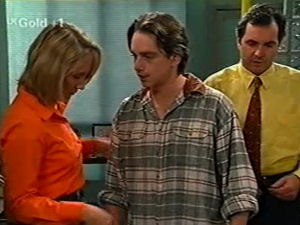 Ruth Wilkinson, Darren Stark, Karl Kennedy in Neighbours Episode 2917