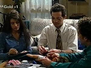 Sarah Beaumont, Richard Jones, Ben Atkins in Neighbours Episode 2918