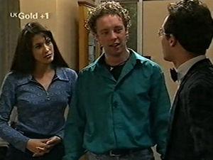 Sarah Beaumont, Ben Atkins, Richard Jones in Neighbours Episode 2918