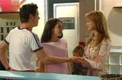 Jack Scully, Edwina Valdez, Nina Tucker in Neighbours Episode 4307