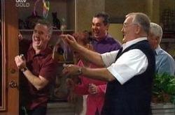 Gino Esposito, Susan Kennedy, Karl Kennedy, Harold Bishop, Lou Carpenter in Neighbours Episode 4335