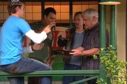 Stuart Parker, Taj Coppin, Jonathan Verne, Lou Carpenter in Neighbours Episode 4340