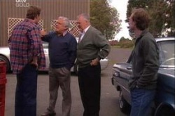 Stuart Parker, Lou Carpenter, Harold Bishop, Jonathan Verne in Neighbours Episode 4344