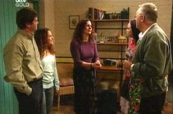 Serena Bishop, David Bishop, Liljana Bishop, Sky Mangel, Harold Bishop in Neighbours Episode 4344