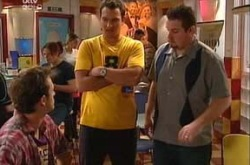 Stuart Parker, Taj Coppin, Toadie Rebecchi in Neighbours Episode 4345