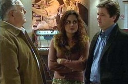 Harold Bishop, Liljana Bishop, David Bishop in Neighbours Episode 4345