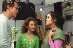 Chris Cousens, Serena Bishop, Sky Mangel in Neighbours Episode 4383