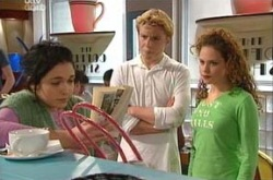 Boyd Hoyland, Sky Mangel, Serena Bishop in Neighbours Episode 4383