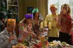 Max Hoyland, Summer Hoyland, Steph Scully, Boyd Hoyland, Izzy Hoyland in Neighbours Episode 4394