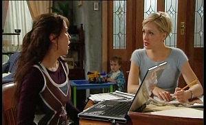 Libby Kennedy, Ben Kirk, Sindi Watts in Neighbours Episode 4509