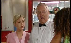 Sindi Watts, Harold Bishop, Liljana Bishop in Neighbours Episode 4516