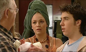 Harold Bishop, Sky Mangel, Stingray Timmins in Neighbours Episode 5097
