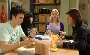 Stingray Timmins, Bree Timmins, Janelle Timmins, Dylan Timmins in Neighbours Episode 5103