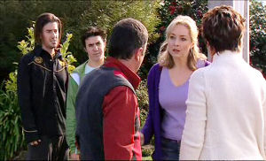 Dylan Timmins, Stingray Timmins, Janelle Timmins, Karl Kennedy, Susan Kennedy in Neighbours Episode 5103