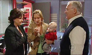 Lyn Scully, Steph Scully, Charlie Hoyland, Harold Bishop in Neighbours Episode 5104